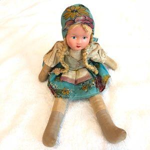 Vintage Scandinavian Doll with Braids